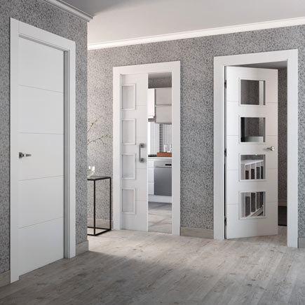 Dise os de puertas de interior 2018 blancas de madera for Cristales para puertas de interior catalogo
