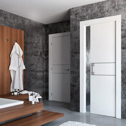 Dise os de puertas de interior 2019 blancas de madera - Puertas piso interior ...