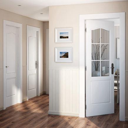 Dise os de puertas de interior 2018 blancas de madera for Puertas madera y cristal interior