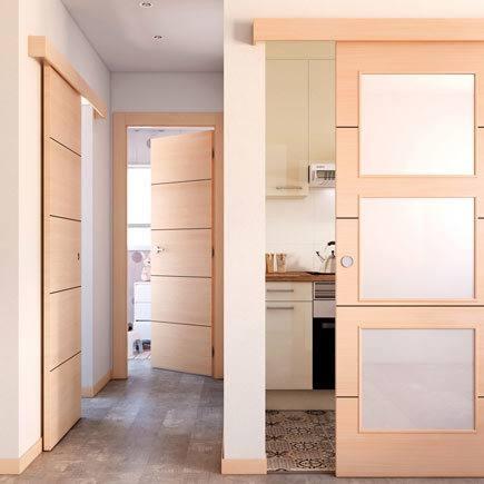 Dise os de puertas de interior 2018 blancas de madera - Puertas de casa interior ...