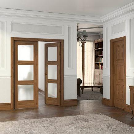 Dise os de puertas de interior 2018 blancas de madera for Tipos de puertas de interior