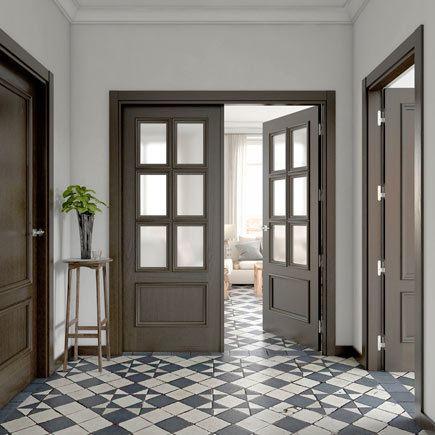 Dise os de puertas de interior 2018 blancas de madera for Puertas de roble interior