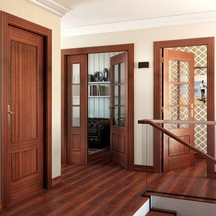 Dise os de puertas de interior 2018 blancas de madera con cristal y r sticas - Puertas internas de madera ...