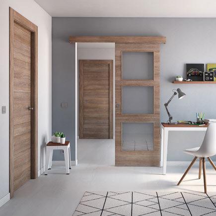 Dise os de puertas de interior 2018 blancas de madera - Puertas correderas interior rusticas ...