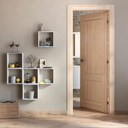 Diseos de Puertas de interior 2018 Blancas de madera con cristal