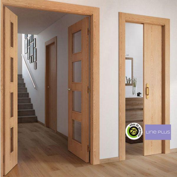 Dise os de puertas de interior 2018 blancas de madera for Puertas madera interiores catalogo