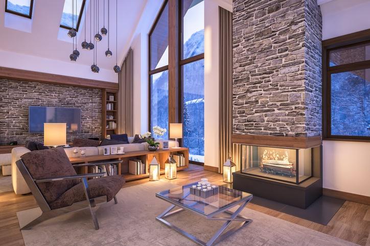 Ideas para decorar salones r sticos 2019 - Decorar salones con chimenea ...