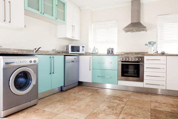 Cocinas azules electrodomesticos de acero