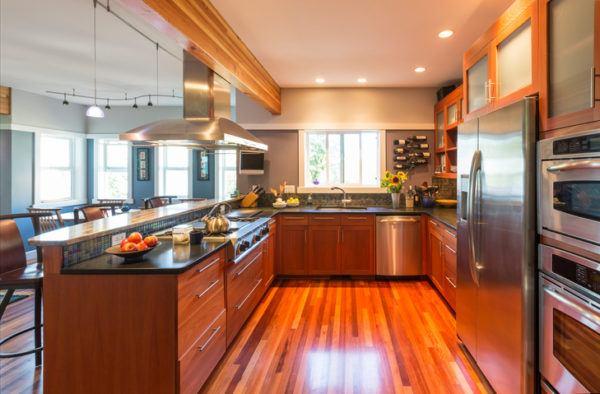 Cocinas de lujo con nevera americana