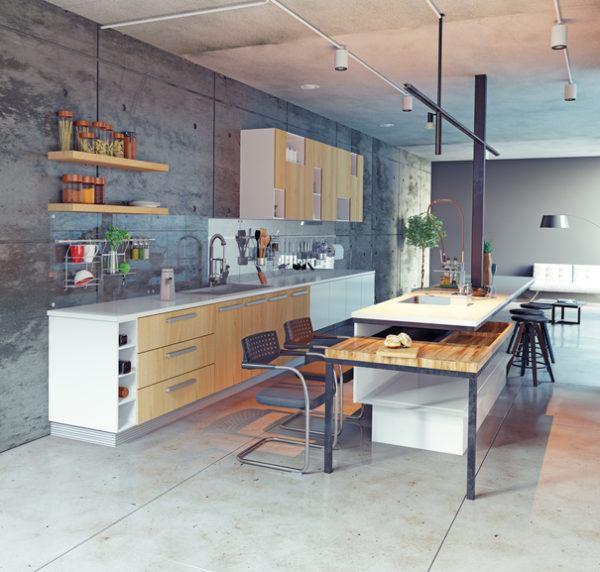 Cocinas de lujo en cemento