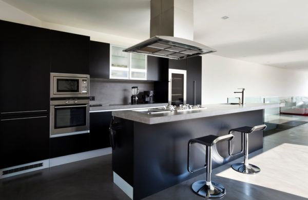 Cocinas negras con isla