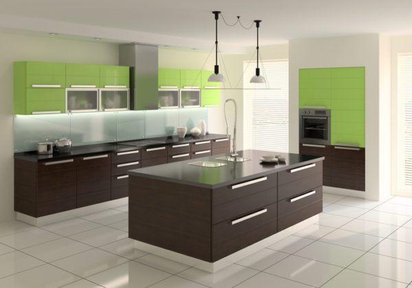 Cocinas verdes con isla