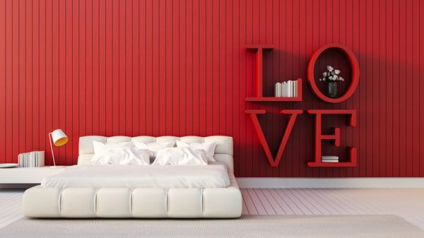 Como decorar habitaciones romanticas color rojo paredes color rojo