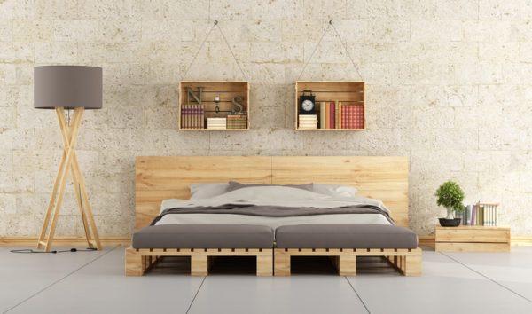 Ideas para decorar una habitacion de matrimonio cabecero palet