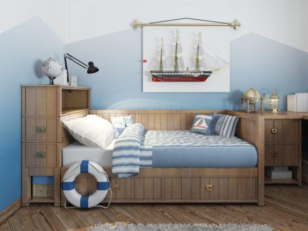 Ideas para decorar una pared infantil el color al estilo pirata