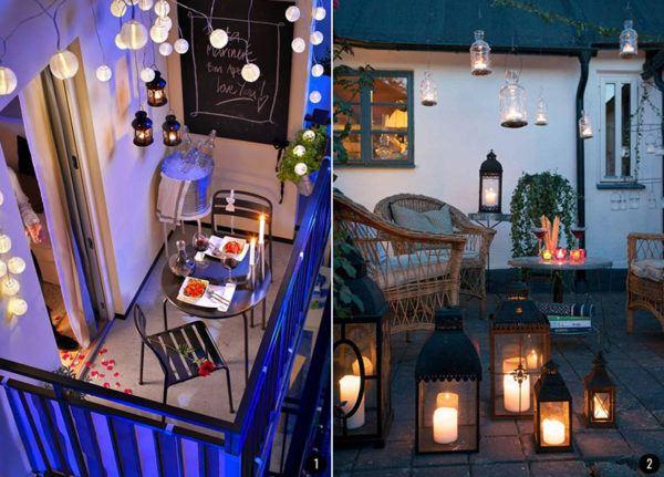 C mo decorar balcones peque os ideas y consejos for Iluminacion para balcones