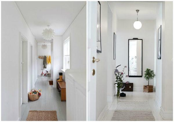 C mo decorar pasillos largos y estrechos ideas y consejos for De que color puedo pintar los marcos de las puertas