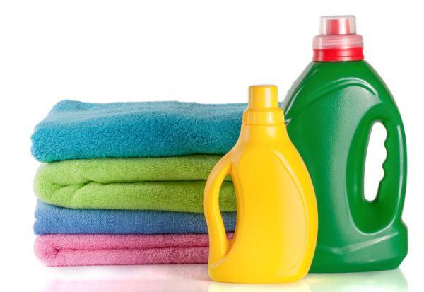 Cantidad de detergente y suavizante