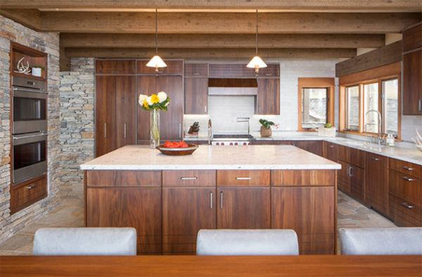 M s de 20 fotos de cocinas r sticas decoradas con encanto for Muebles de cocina americana modernos
