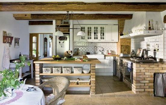 M s de 20 fotos de cocinas r sticas decoradas con encanto - Cocinas de obra rusticas ...