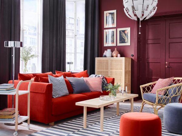 Los mejores colores que combinan con azul para decorar una - Decoracion ikea salon ...