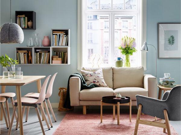Los mejores colores que combinan con azul para decorar una - Salon rustico ikea ...