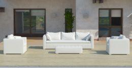 Sofás de jardín con tela náutica de Muebles – Exterior
