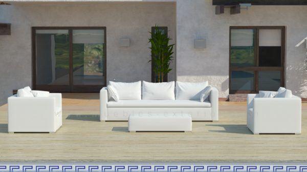 Sof s de jard n con tela n utica de muebles exterior - Muebles exterior tela nautica ...