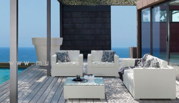 Sof s de jard n con tela n utica de muebles exterior for Sofa tela nautica