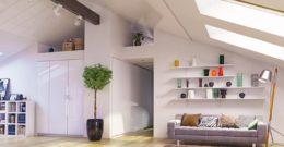 Cómo decorar un apartamento con techo abuhardillado: cómo aprovechar el espacio