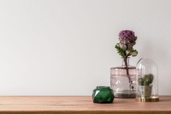 Decorar flores minimalismo