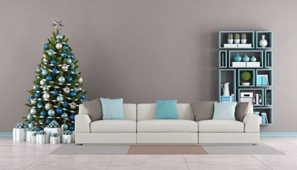 Colores azules para Navidad
