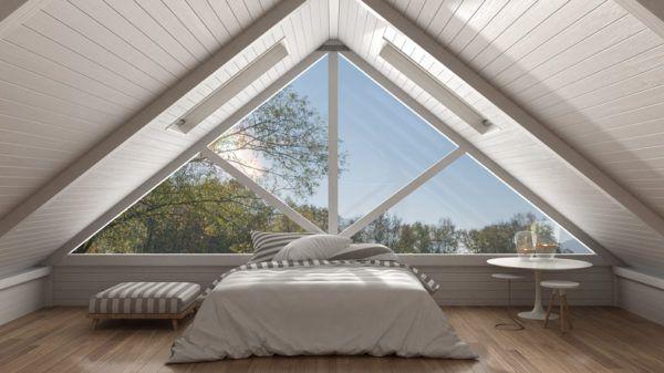Decoracion vigas madera dormitorio blanco